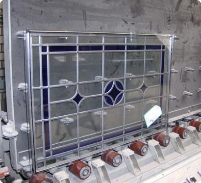 Dubbel glas met glas in lood